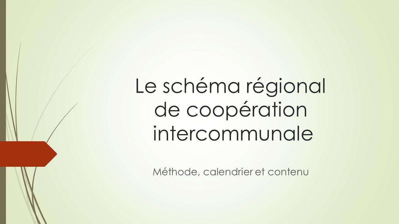 Le schéma régional de coopération intercommunale