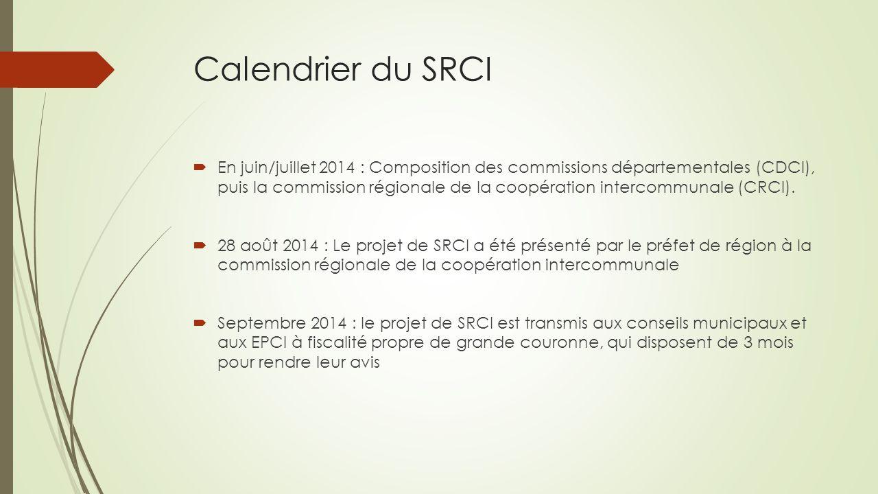 Calendrier du SRCI