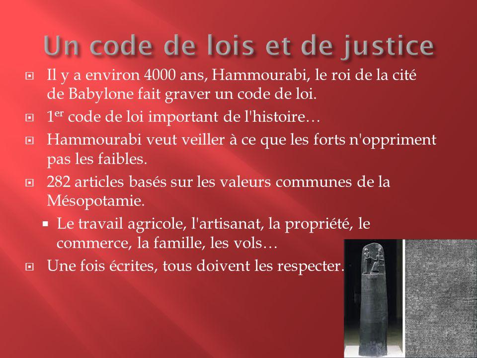 Un code de lois et de justice