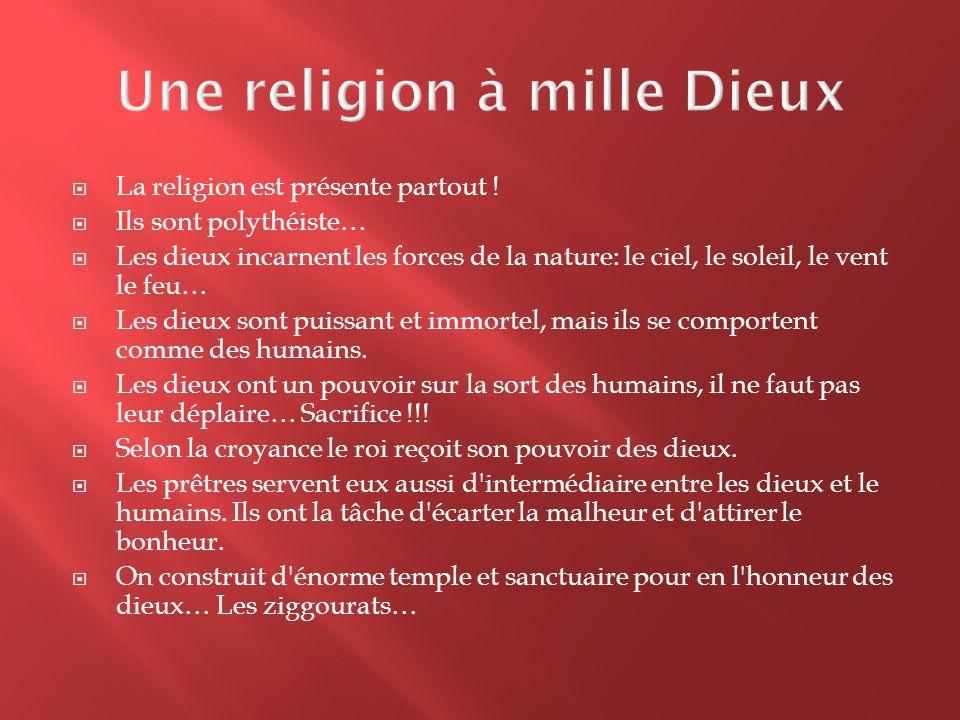 Une religion à mille Dieux