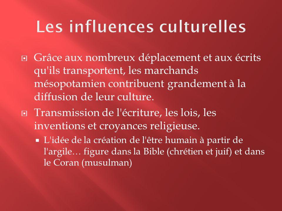 Les influences culturelles