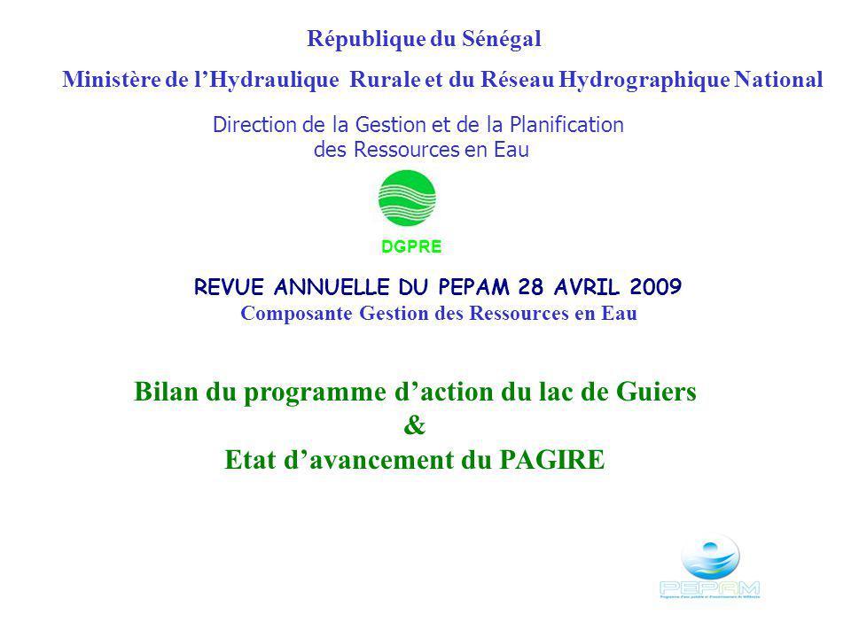 Bilan du programme d'action du lac de Guiers &
