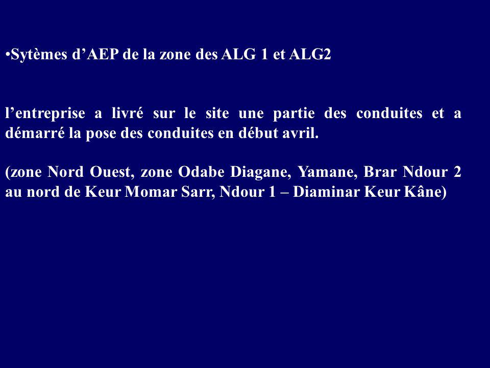 Sytèmes d'AEP de la zone des ALG 1 et ALG2