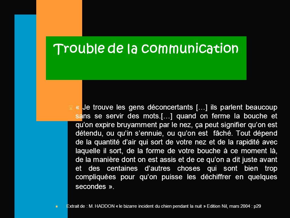 Trouble de la communication