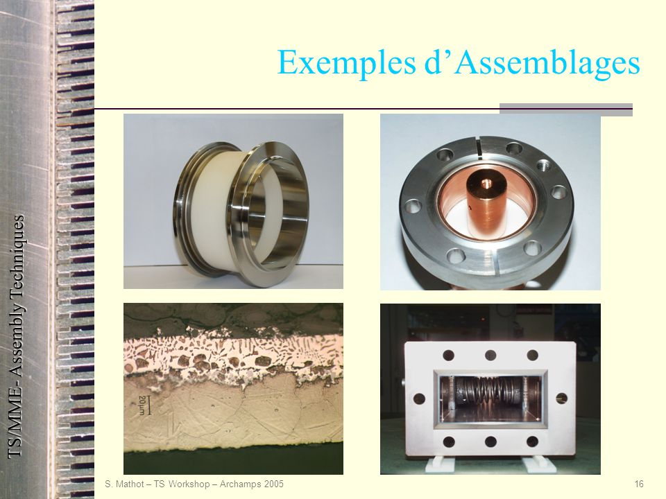 Exemples d'Assemblages
