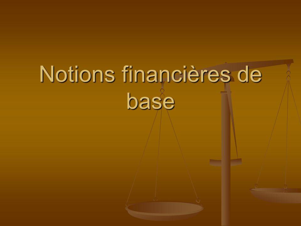 Notions financières de base