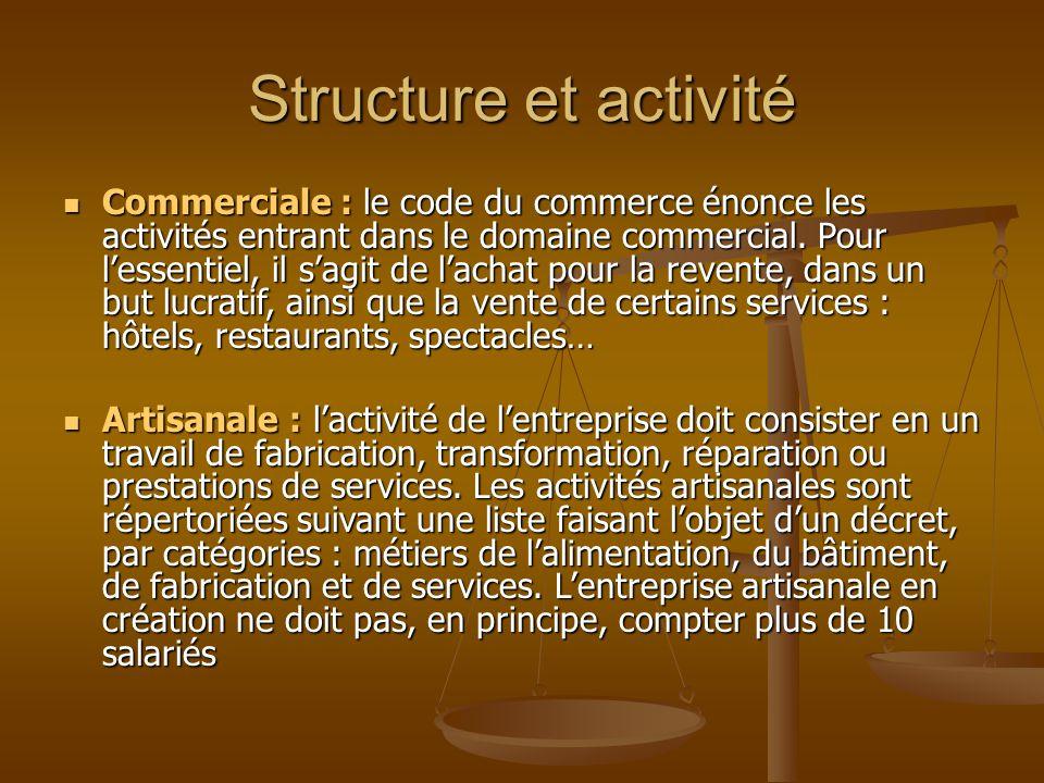 Structure et activité