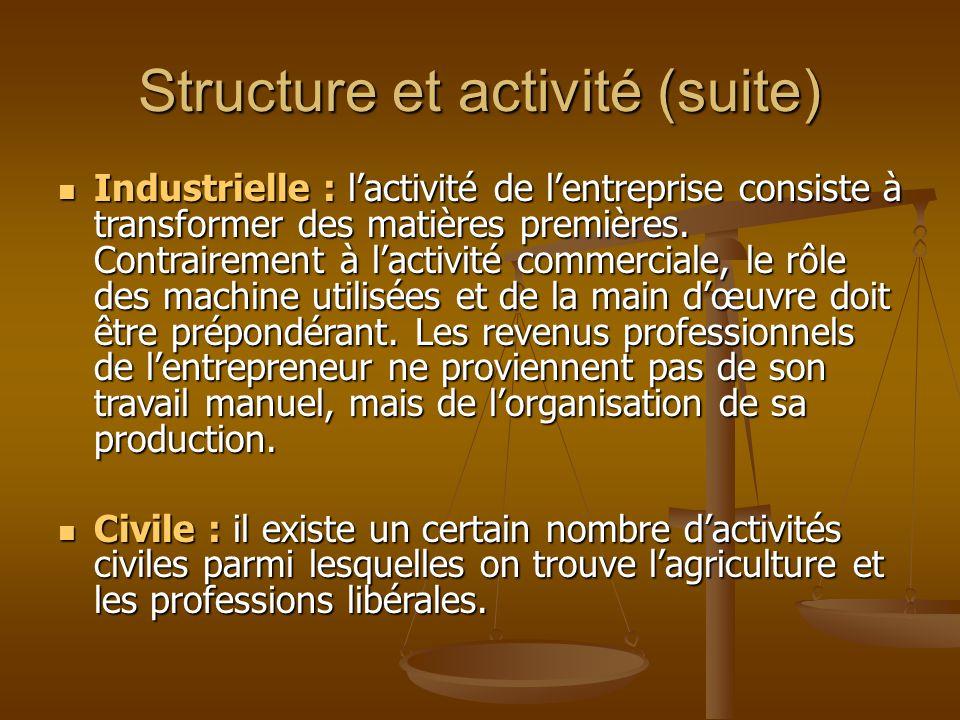 Structure et activité (suite)