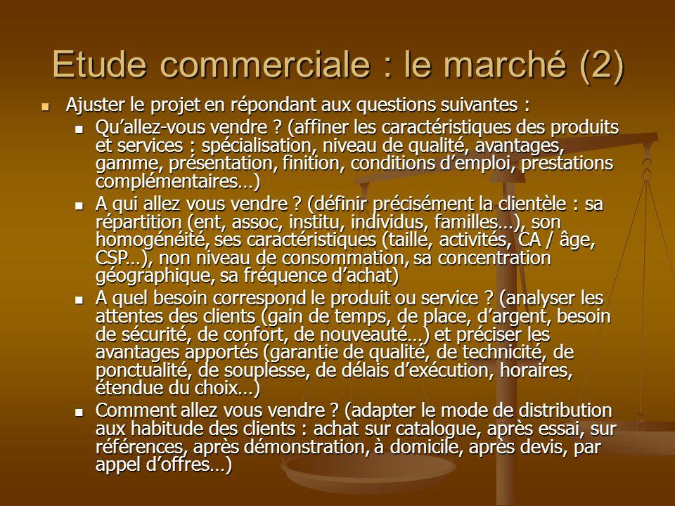 Etude commerciale : le marché (2)