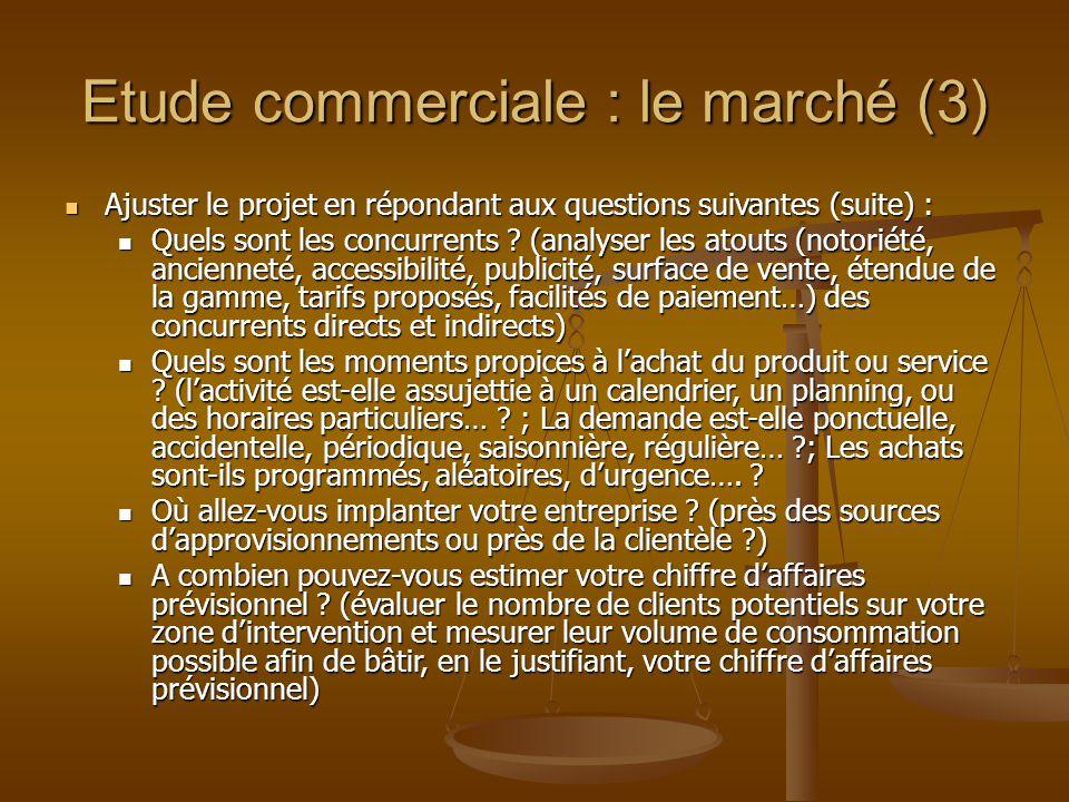 Etude commerciale : le marché (3)