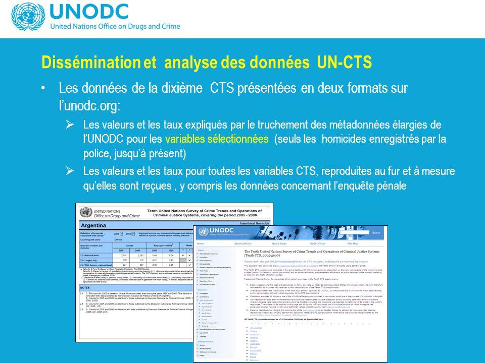 Dissémination et analyse des données UN-CTS