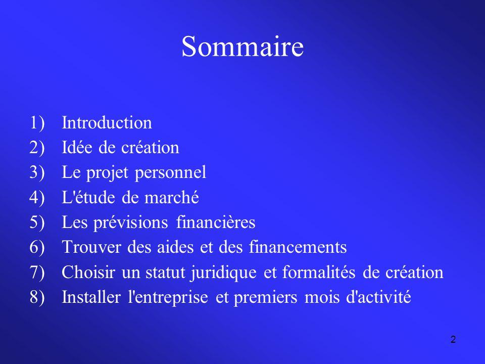 Sommaire Introduction Idée de création Le projet personnel