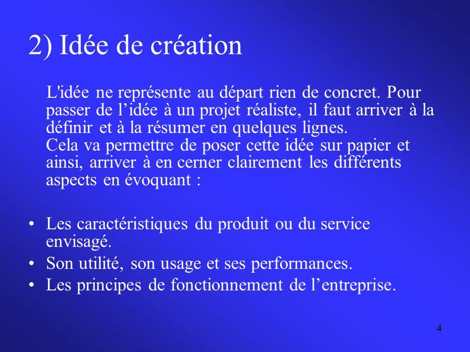 2) Idée de création