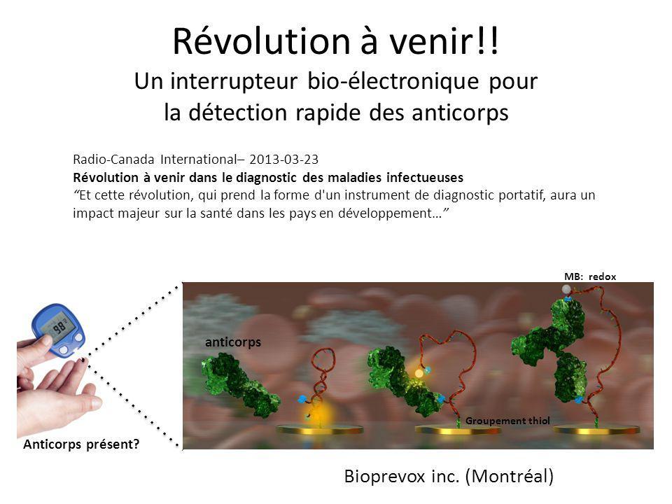 Révolution à venir!! Un interrupteur bio-électronique pour