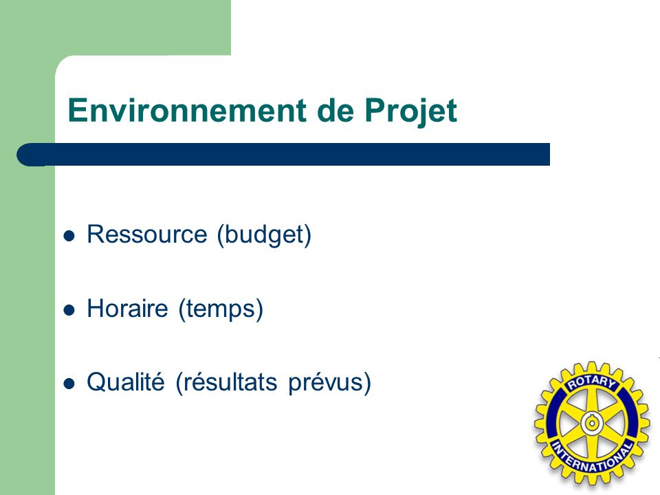 Environnement de Projet
