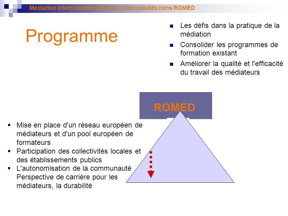 Programme ROMED Les défis dans la pratique de la médiation