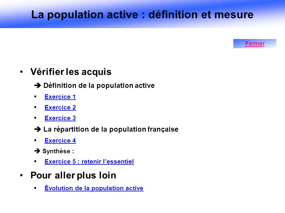 La population active : définition et mesure