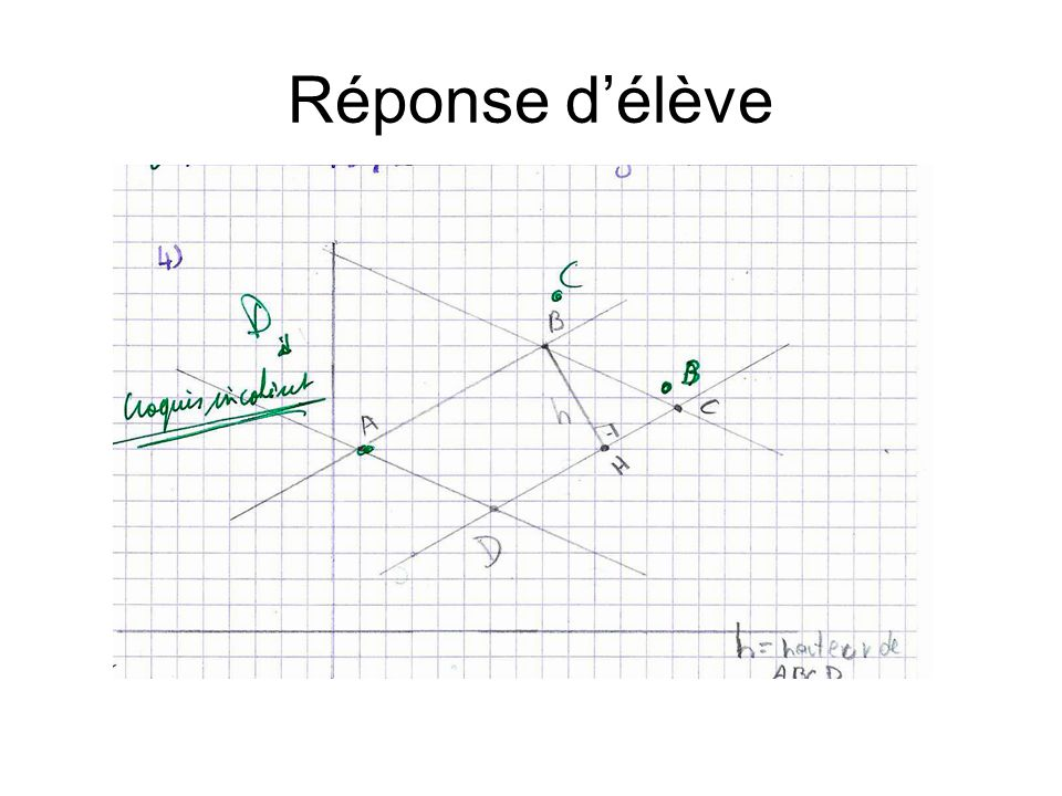 Réponse d'élève