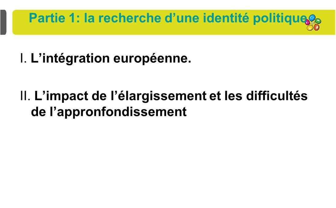 Partie 1: la recherche d'une identité politique