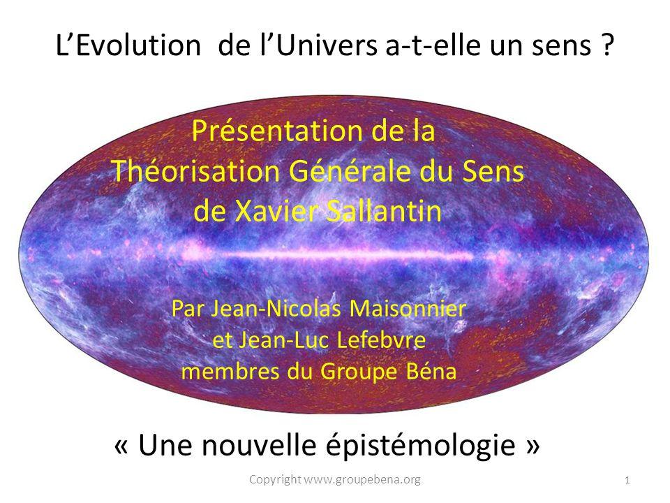 Présentation de la Théorisation Générale du Sens de Xavier Sallantin