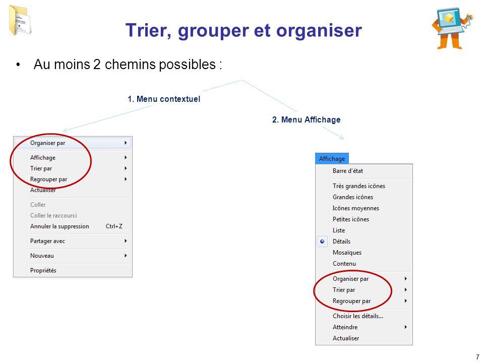 Trier, grouper et organiser