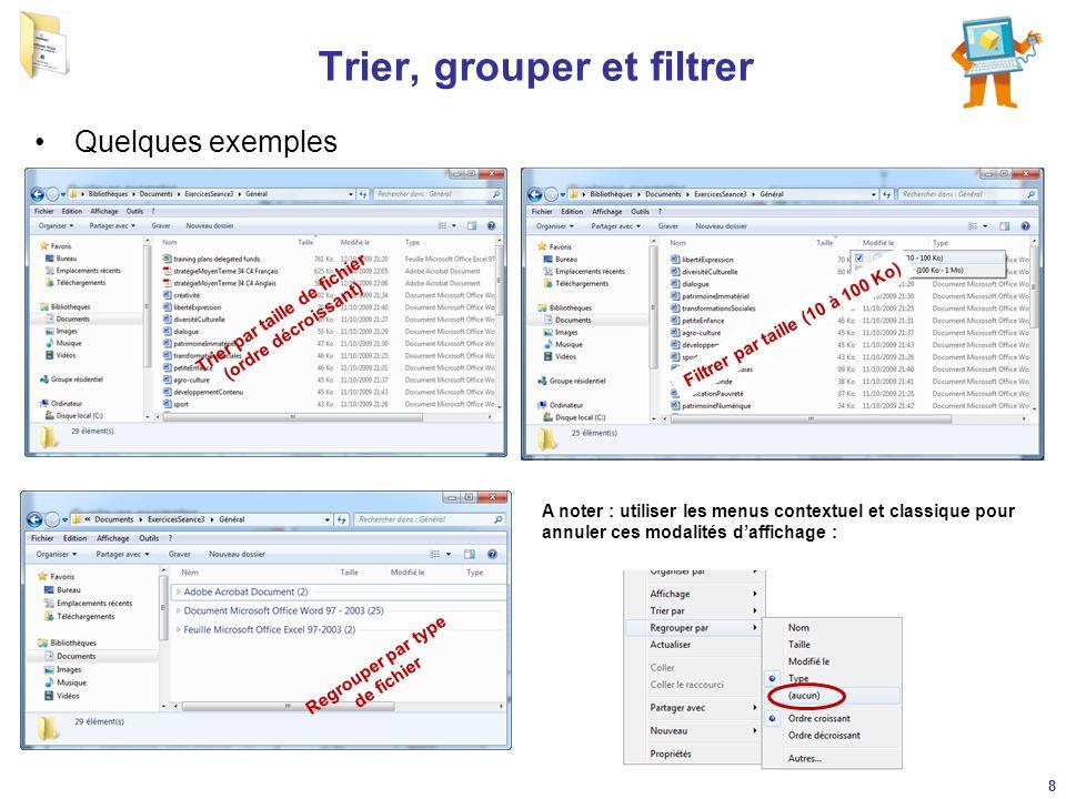 Trier, grouper et filtrer