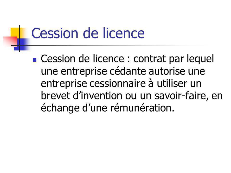 Cession de licence