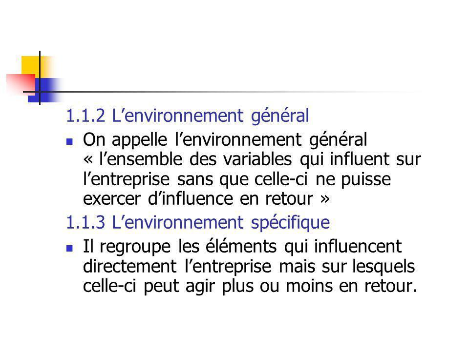 1.1.2 L'environnement général