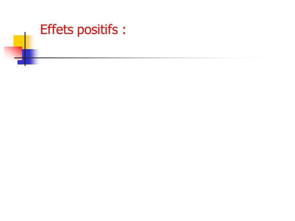 Effets positifs :