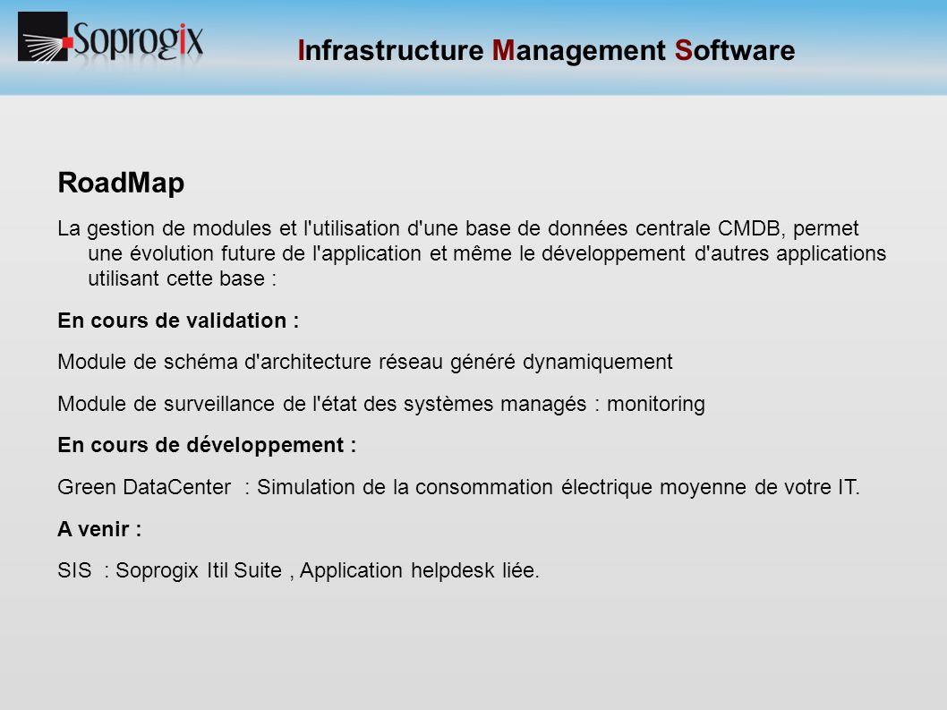 Infrastructure Management Software
