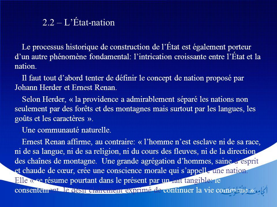 2.2 – L'État-nation