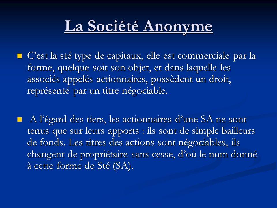 La Société Anonyme