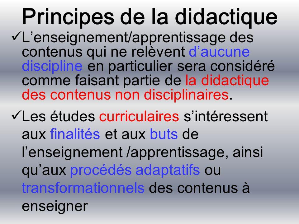 Principes de la didactique