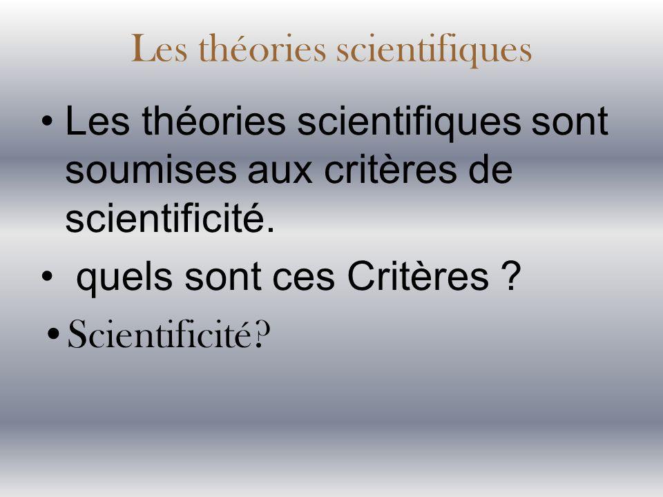 Les théories scientifiques