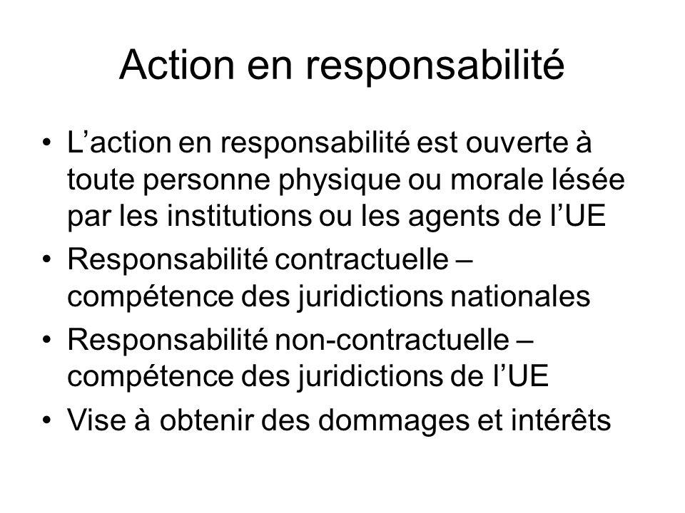 Action en responsabilité