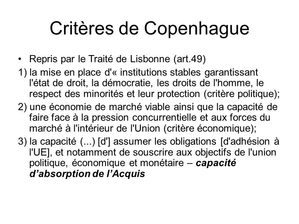 Critères de Copenhague