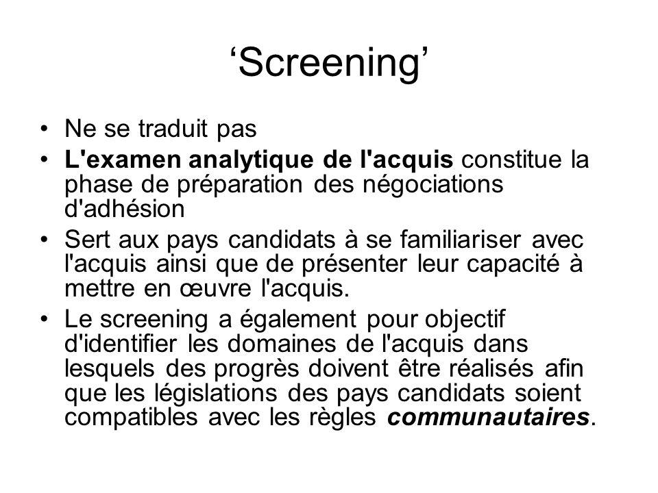 'Screening' Ne se traduit pas