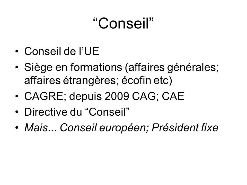 Conseil Conseil de l'UE