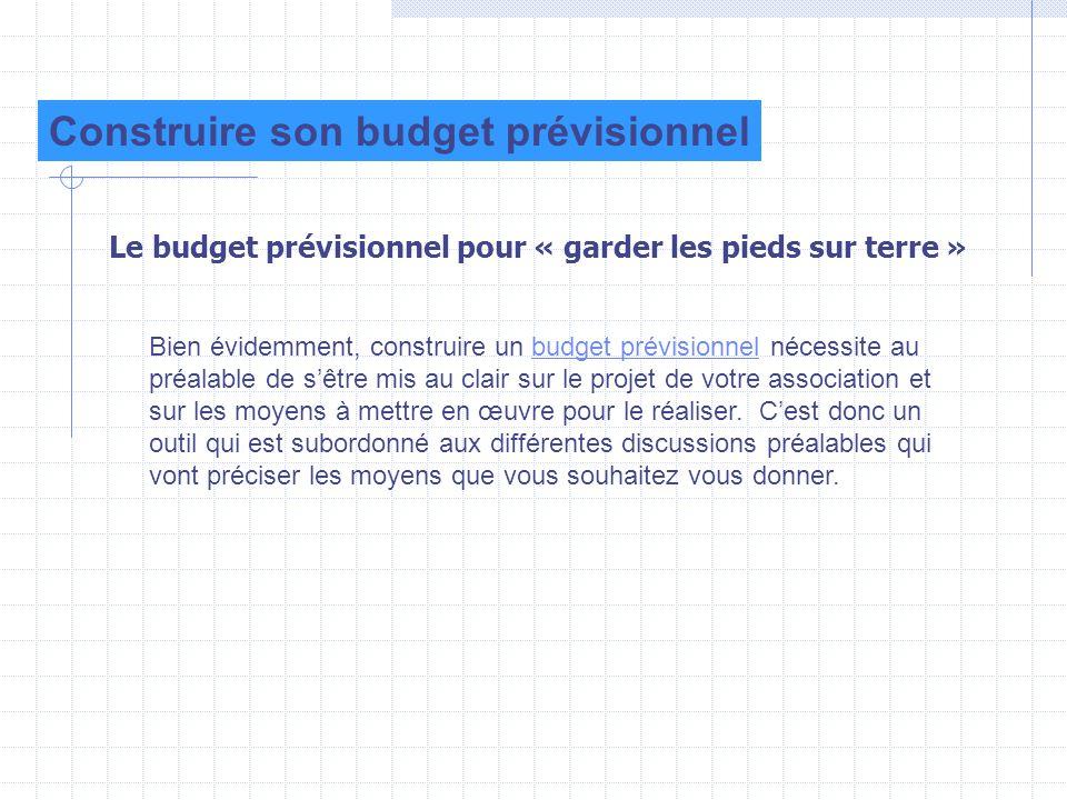 Construire son budget prévisionnel