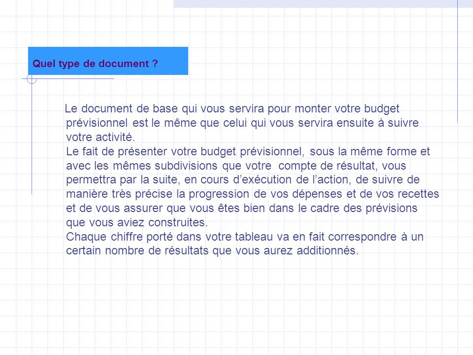 Quel type de document