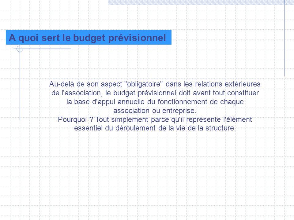 A quoi sert le budget prévisionnel