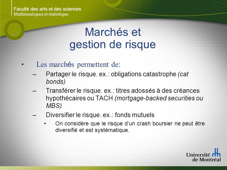 Marchés et gestion de risque