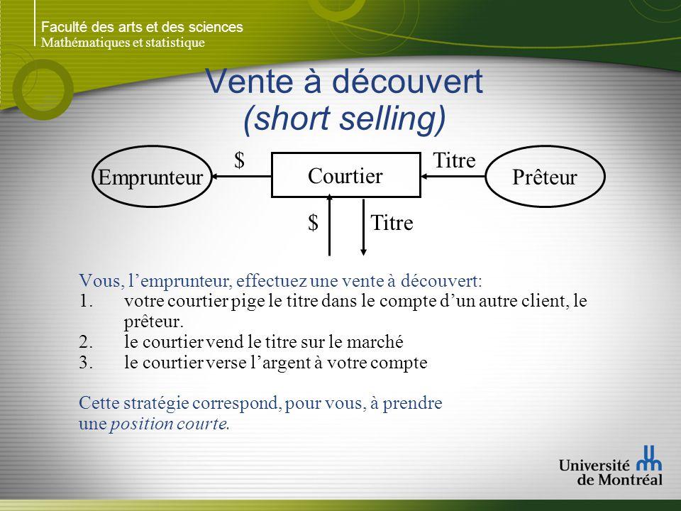 Vente à découvert (short selling)