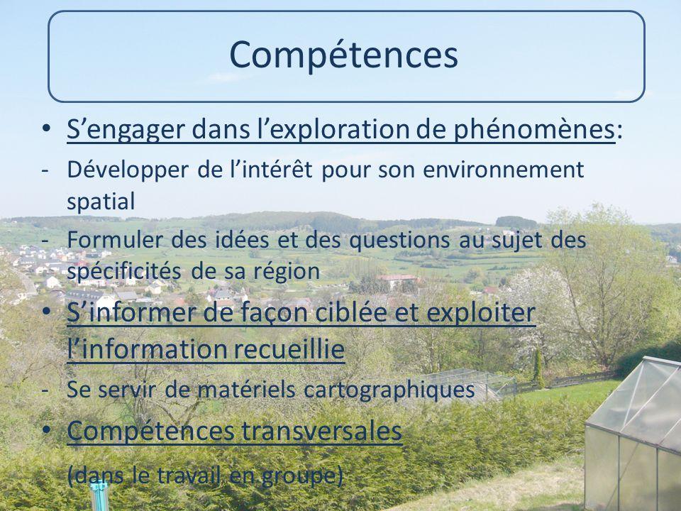 Compétences S'engager dans l'exploration de phénomènes:
