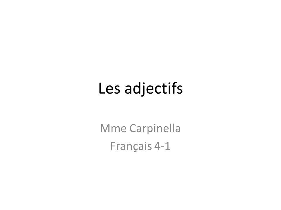 Mme Carpinella Français 4-1