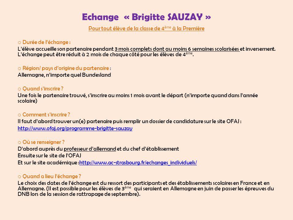 Echange « Brigitte SAUZAY »