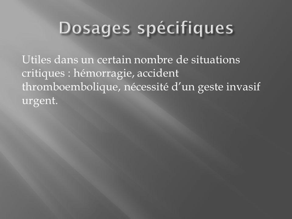 Dosages spécifiques