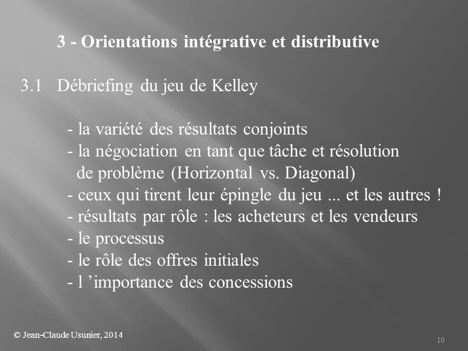 3 - Orientations intégrative et distributive