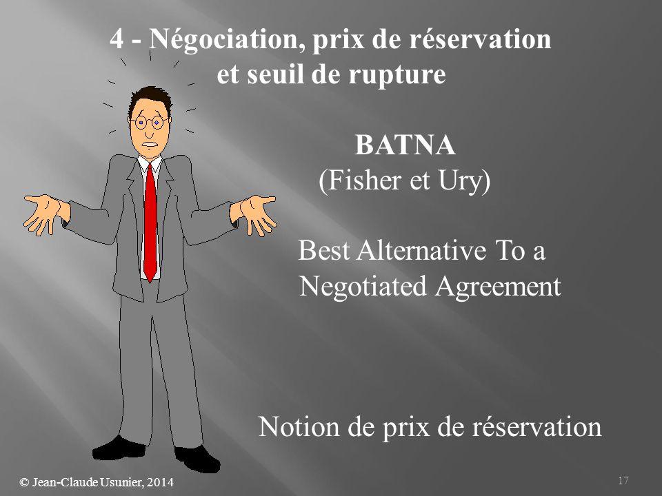 4 - Négociation, prix de réservation