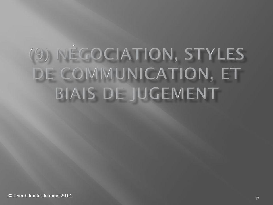 (9) Négociation, styles de communication, et biais de jugement